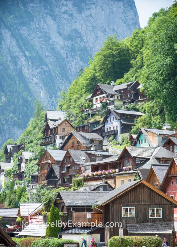 Hallstatt timber houses
