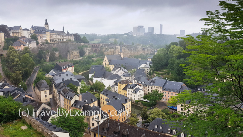 View to the old town of Luxembourg