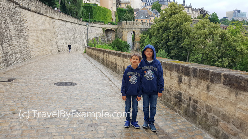 Our kids enjoyed walking in Luxembourg city