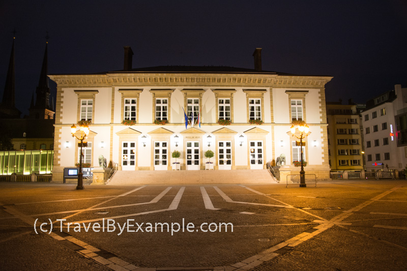 Luxembourg City Hall at night