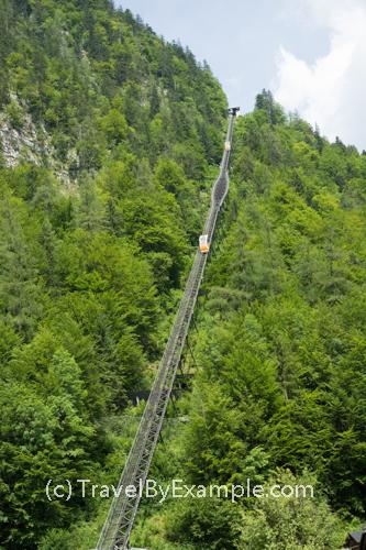 Salzbergbahn funicular in Hallstatt
