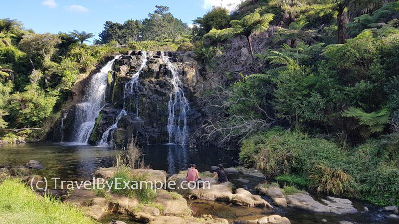 Owharoa Falls after a dry summer