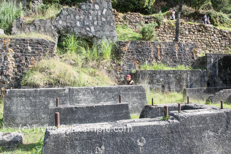 Remains of Woodstock battery at Karangahake gold mining site