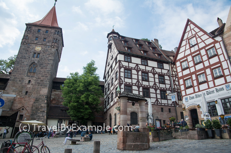 Medieval old town in Nuremberg, Germany