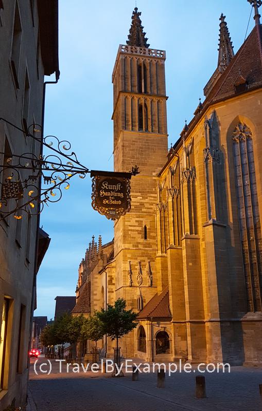 Centuries old St James church in Rothenburg ob der Tauber