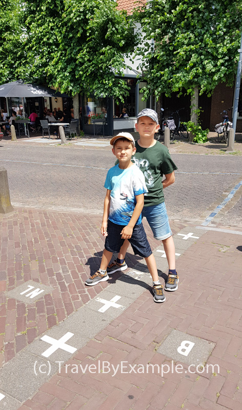 Standing with one leg in Belgium and another one in the Netherlands