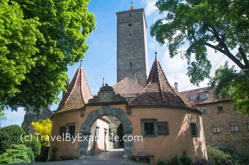 Castle Gate (Burgtor) in Rothenburg ob der Tauber