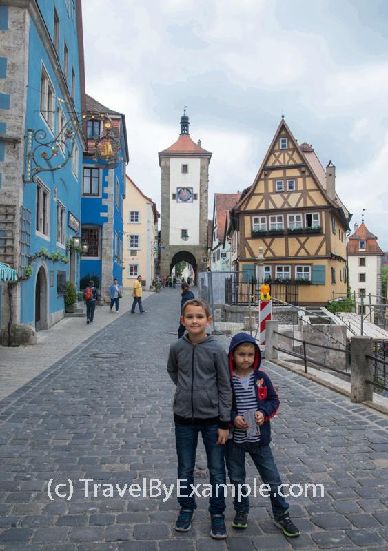 Plonlein - little square in Rothenburg ob der Tauber